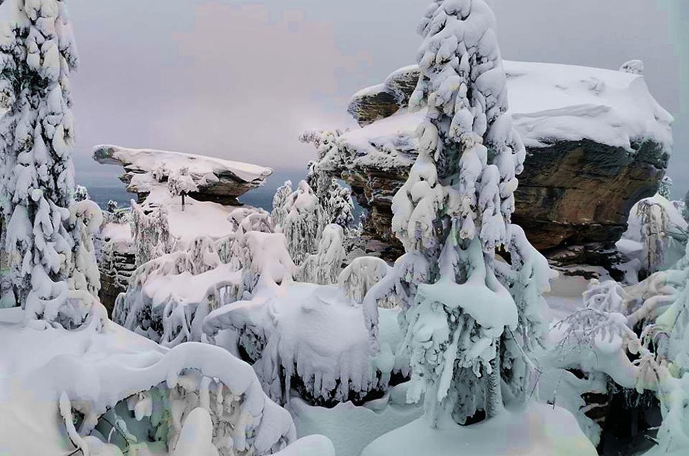 Каменный город, Средний Урал, январь 2020